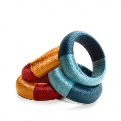 COLORFUL CHUNKY BANGLE FROM SILK THREADS