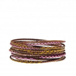 METALLIC GRASS BRACELET SET