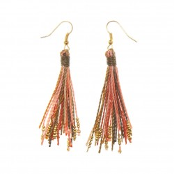ROLLED MAGAZINE ROD EARRINGS