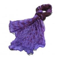 Purple Silk Scarf