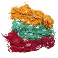 Tie-Dyed Silk Scarves