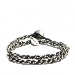 METAL CHAIN WRAP BRACELET