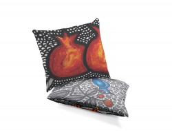 Double sided art pillows by Leyla Aliyeva