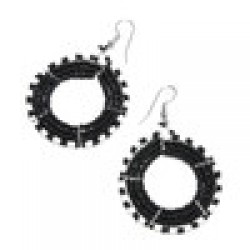 Beaded African Circle Earrings